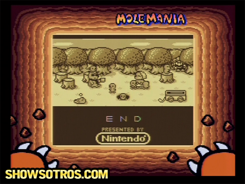 Ending screen of Mole Mania